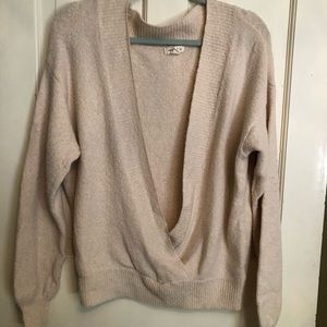Urban Outfitters Cozy Surplice Sweater